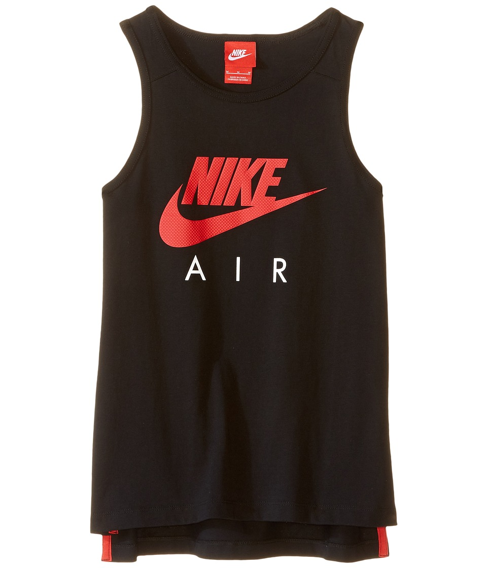 Nike Kids - Air Jersey Tank (Little Kids/Big Kids) (Black/Black/University Red) Boy's Sleeveless