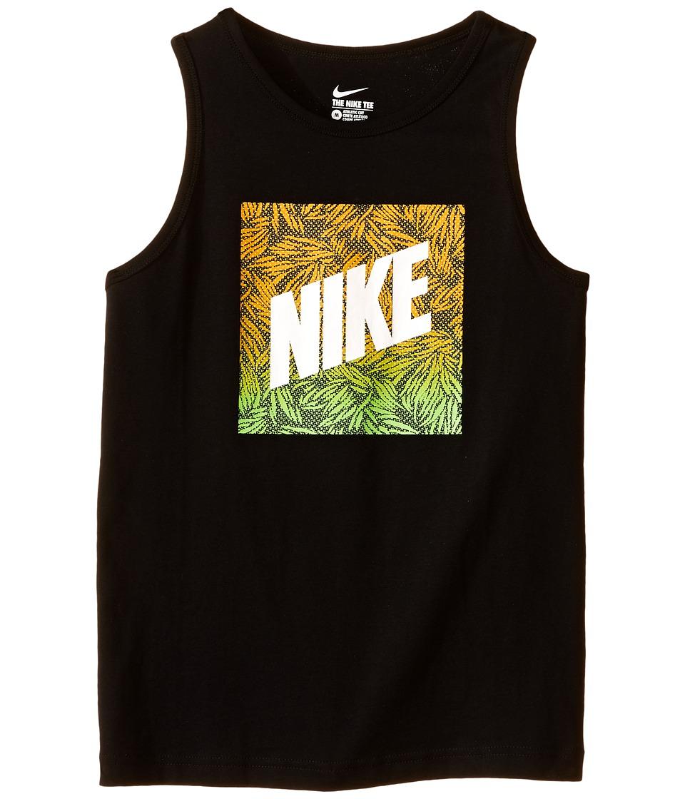 Nike Kids - NSW Verbiage Tank Top 2 (Little Kids/Big Kids) (Black/Vivid Orange) Boy's Sleeveless
