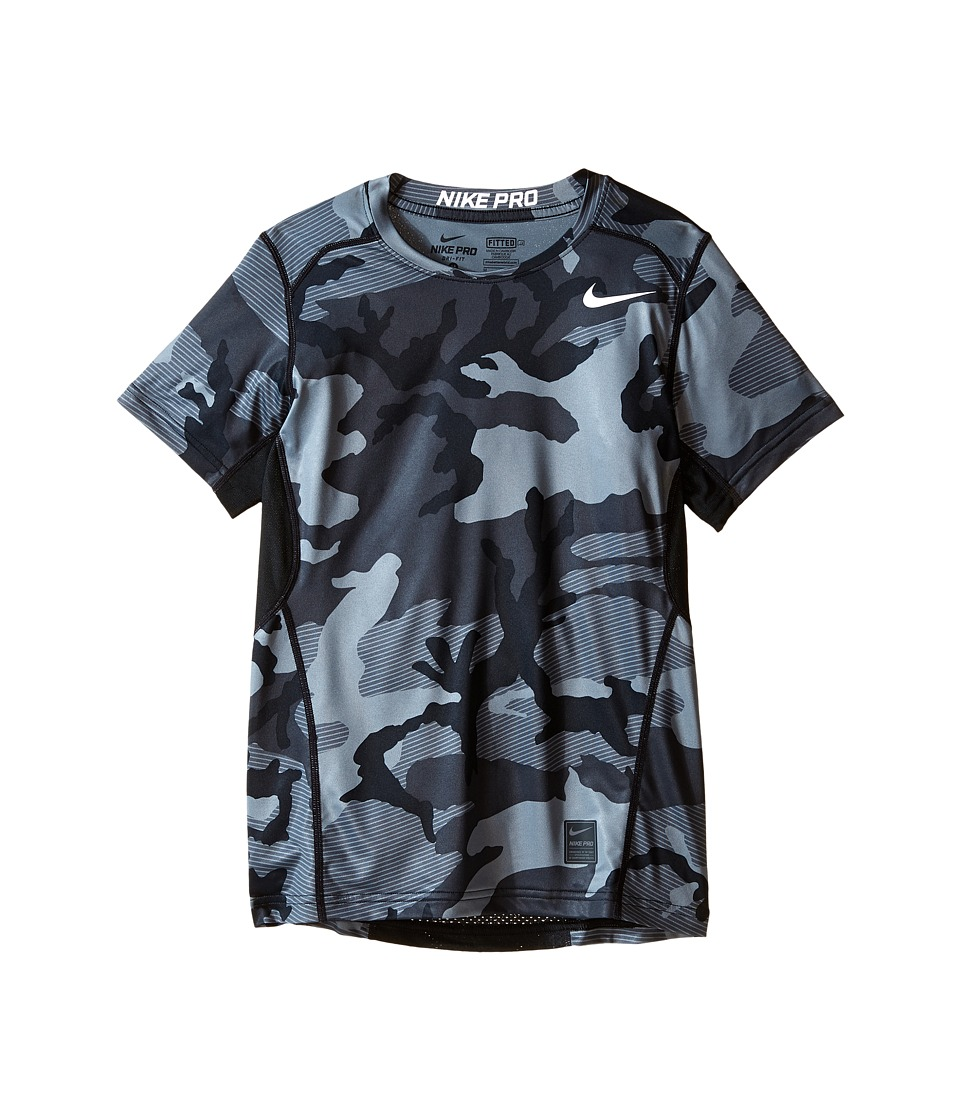 Nike Kids - Pro Hypercool Allover Print Shirt (Little Kids/Big Kids) (Black/Anthracite/White) Boy's Clothing