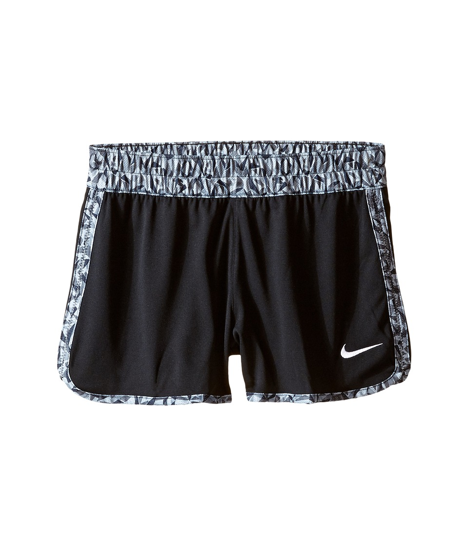 Nike Kids - Gym Reversible Short (Little Kids/Big Kids) (Black/White/White) Girl's Shorts