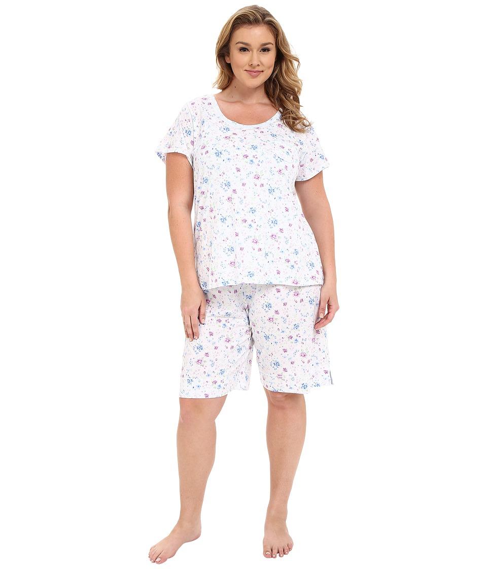 Carole Hochman - Plus Size Novelty Print Bermuda Pajama Set (Wildflower) Women's Pajama Sets plus size,  plus size fashion plus size appare