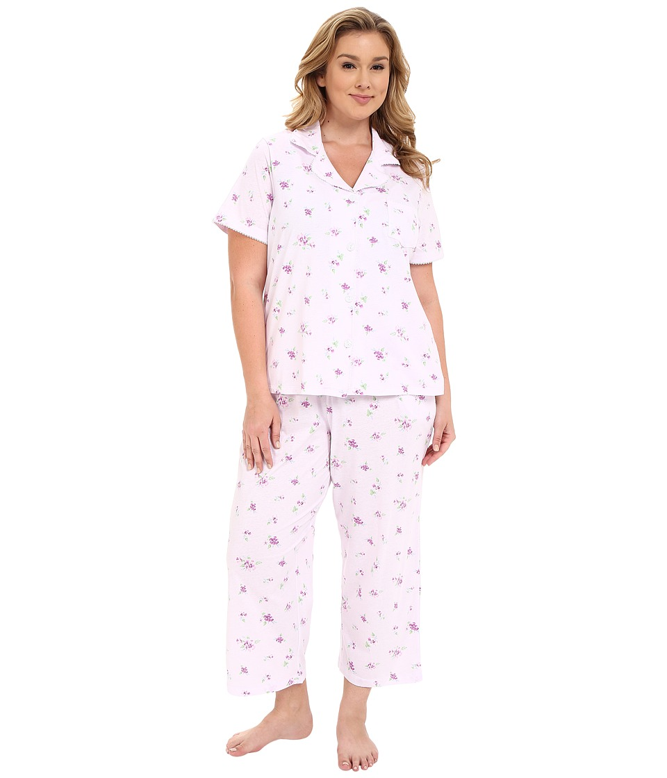 Carole Hochman - Plus Size Capris Pajama (Twin Violet) Women's Pajama Sets