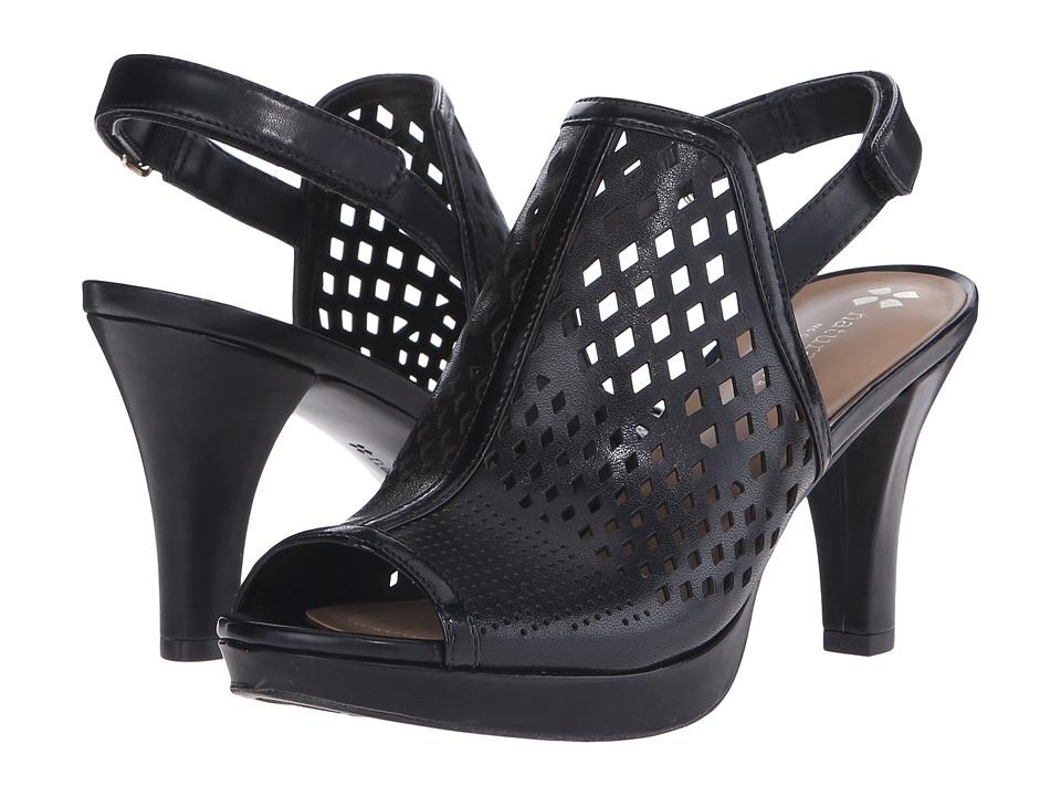 Naturalizer - Pola (Black Perfed Smooth) Women's Dress Flat Shoes