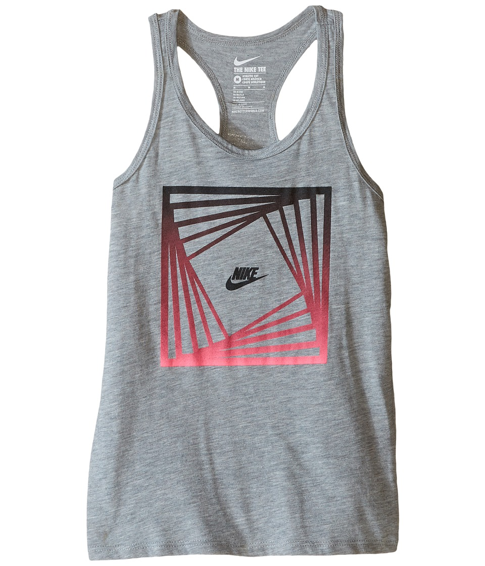Nike Kids - Block TD Tank Top (Little Kids/Big Kids) (Dark Grey Heather) Girl's Sleeveless