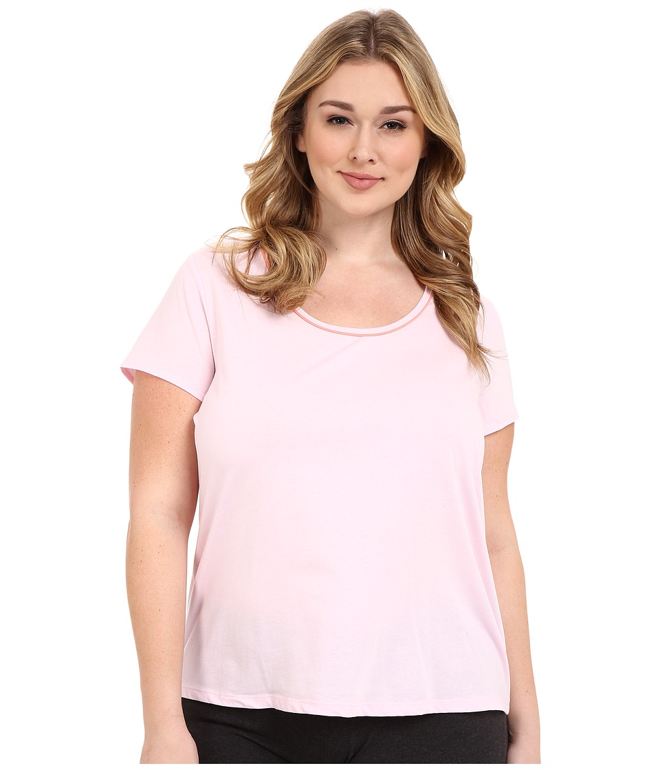 Jockey - Plus Size Cap Sleeve Tee (Pink) Women's Pajama