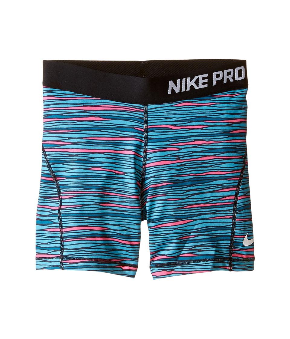 Nike Kids - Pro Cool AOP2 Boyshorts (Little Kids/Big Kids) (Green Abyss/Black/White) Girl's Underwear