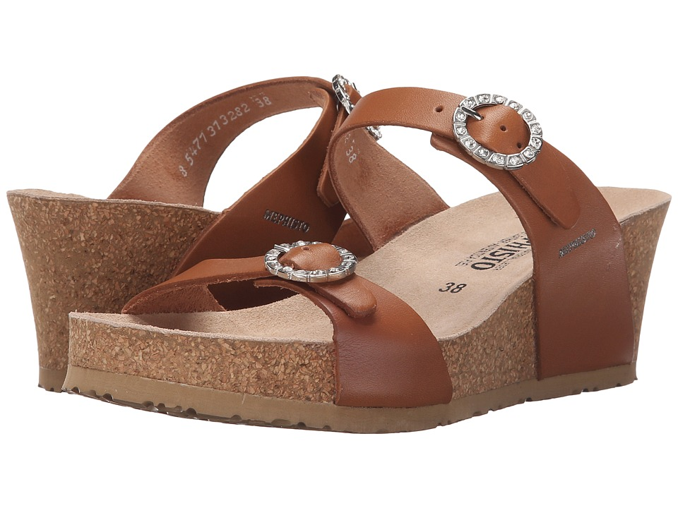 Mephisto - Lidia (Camel Waxy) Women's Wedge Shoes