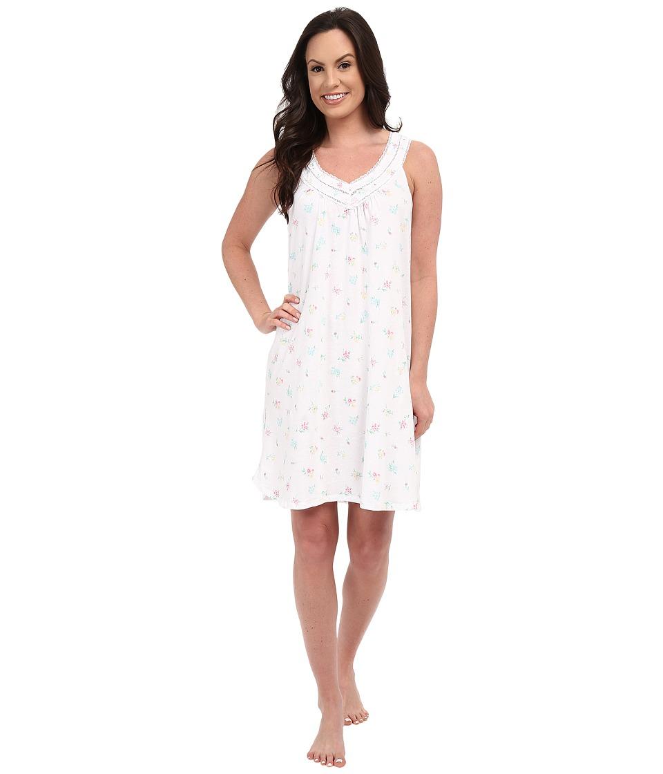 Carole Hochman - Floral Chemise (Bouquets White) Women's Pajama plus size,  plus size fashion plus size appare