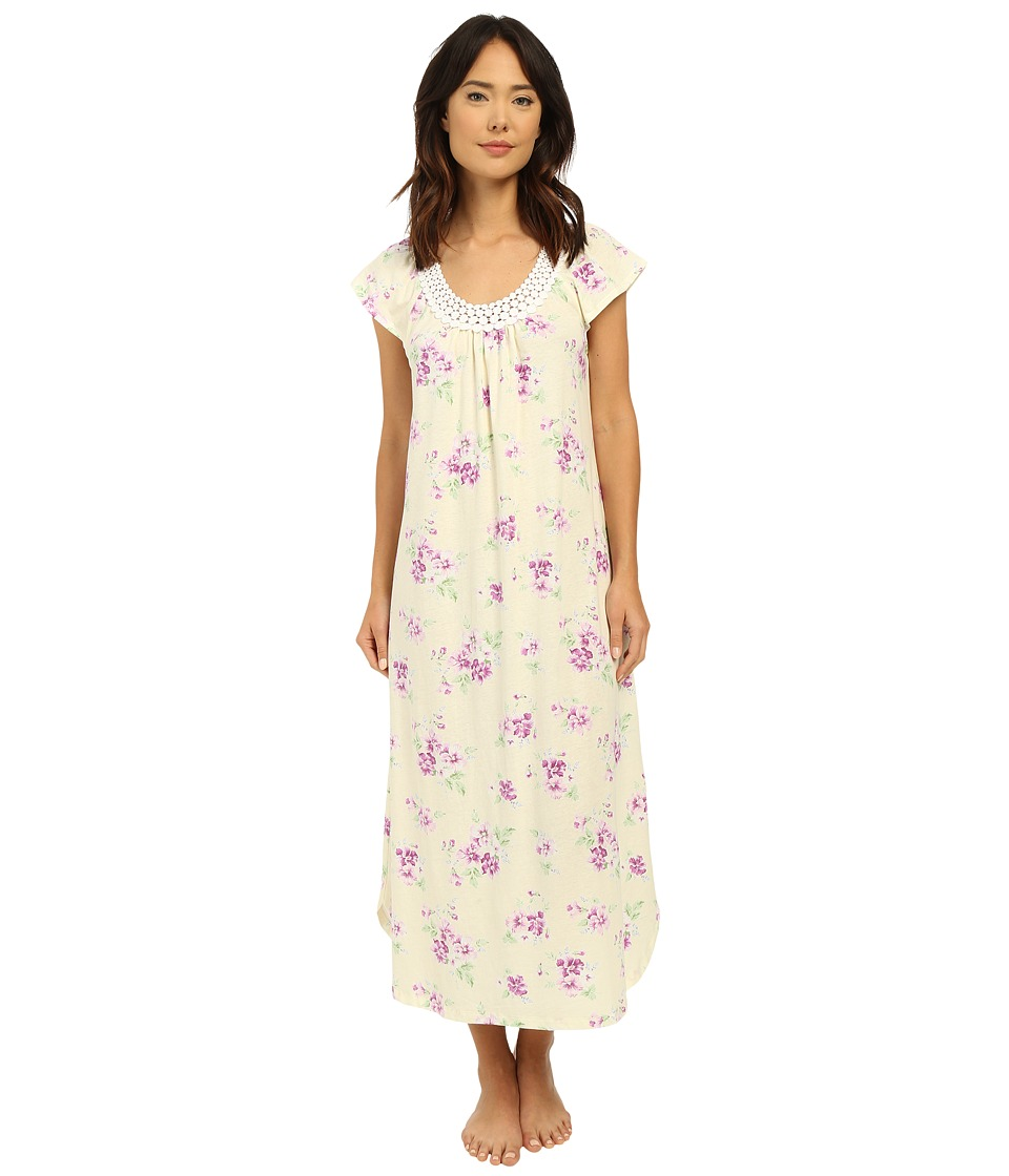 Carole Hochman - Long Gown with Dot Trim (Pansy) Women's Pajama
