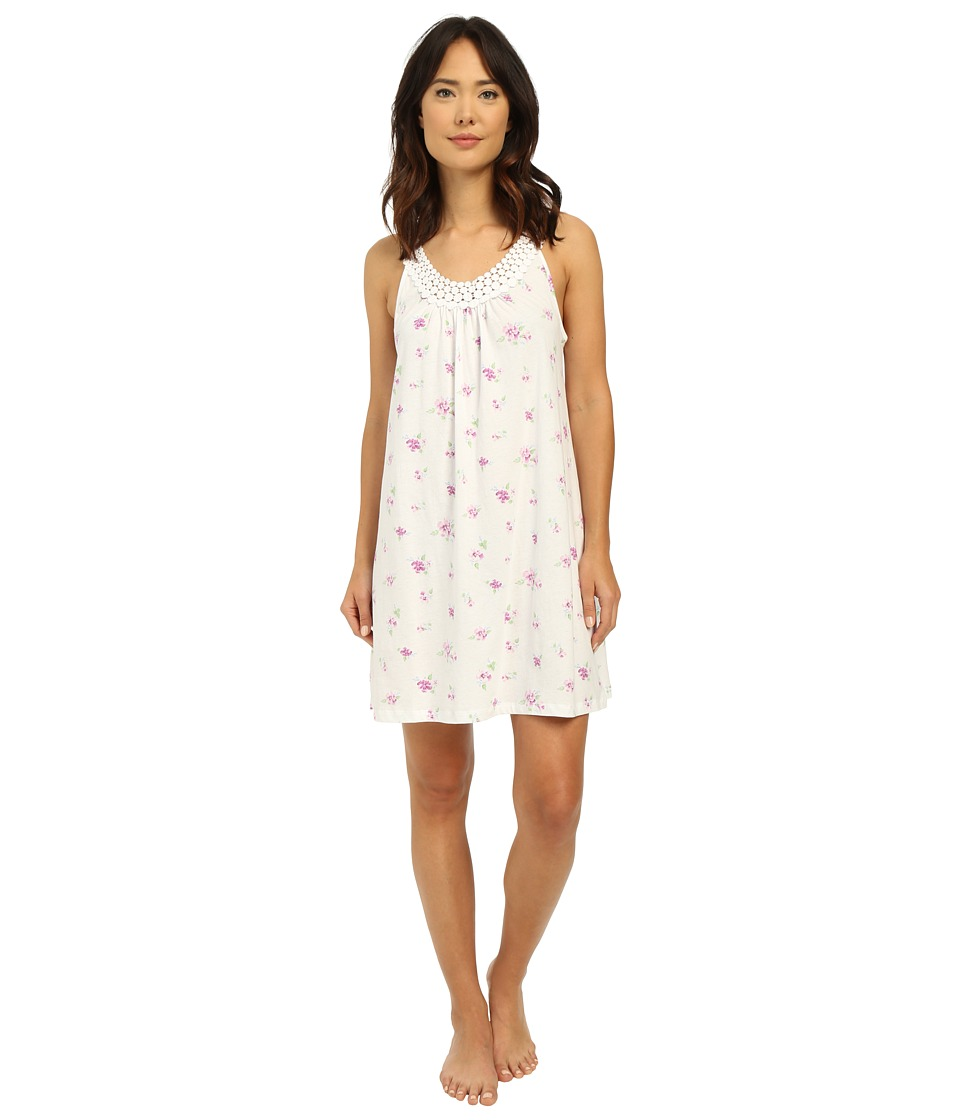 Carole Hochman - Chemise with Dot Trim (Twin White) Women's Pajama