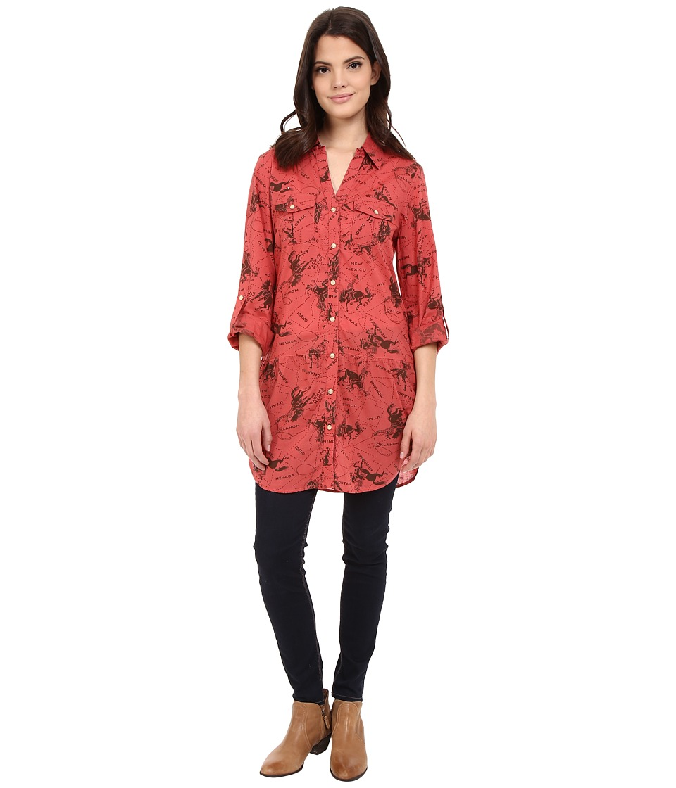 Tasha Polizzi - Four Corners Tunic (Red) Women's Blouse