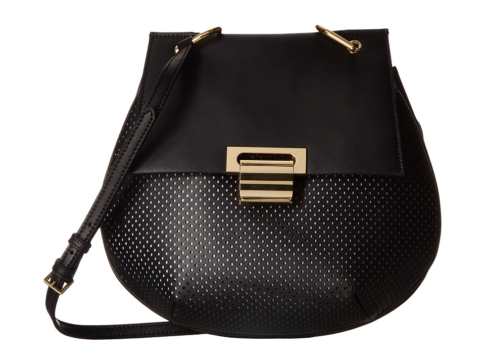 Ivanka Trump - Turner Pancake Crossbody (Black) Cross Body Handbags