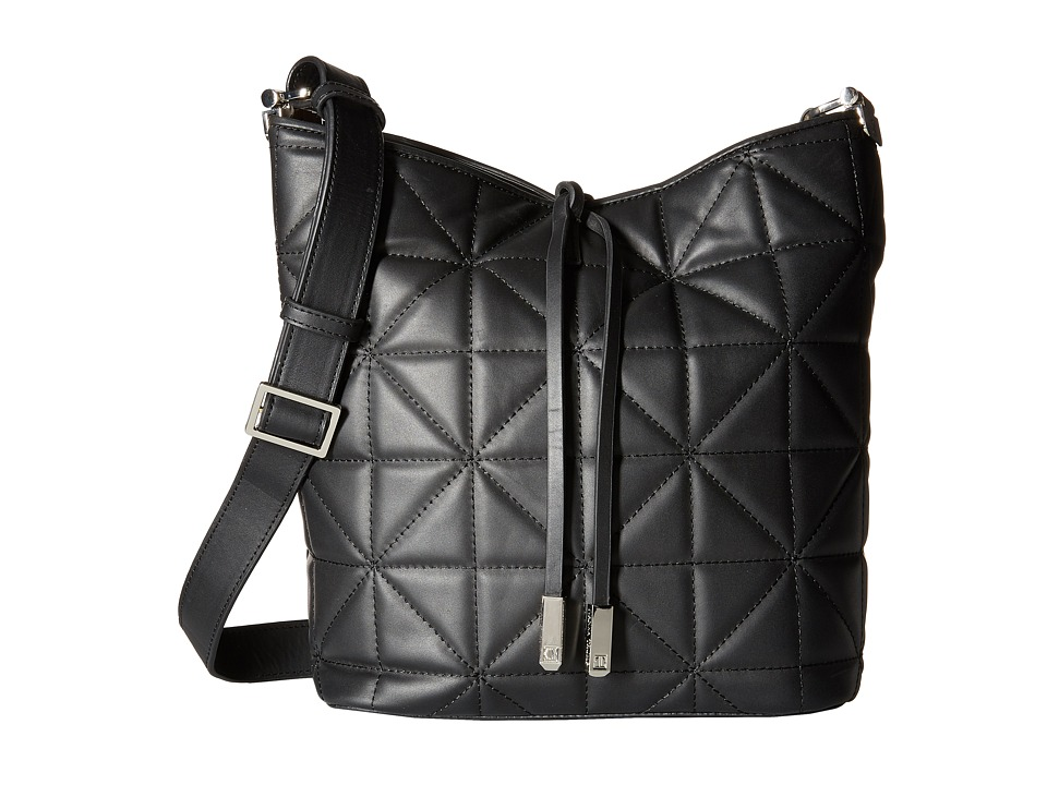 Ivanka Trump - Briarcliff Large Bucket (Black) Cross Body Handbags