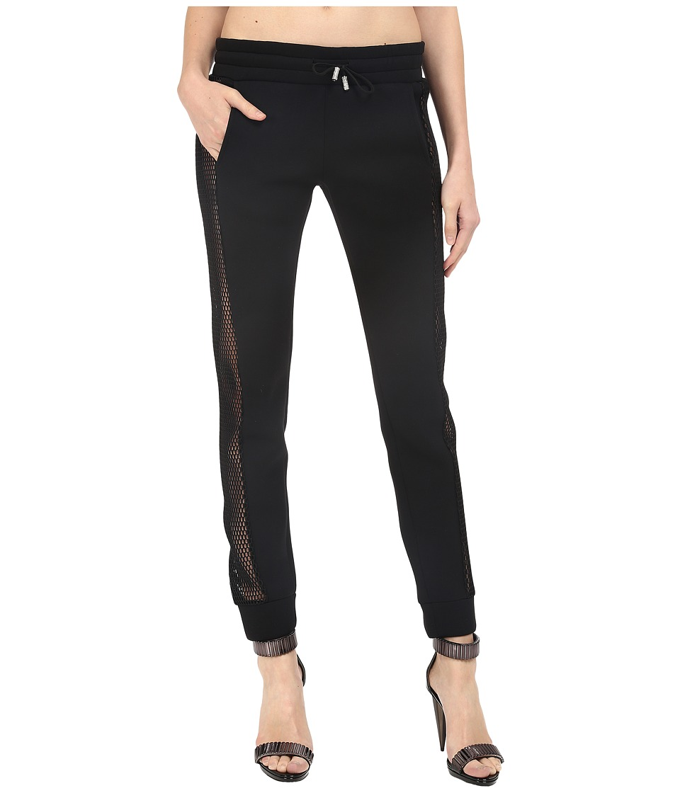 Philipp Plein - Side Sheer Paneled Joggers (Black) Women's Casual Pants