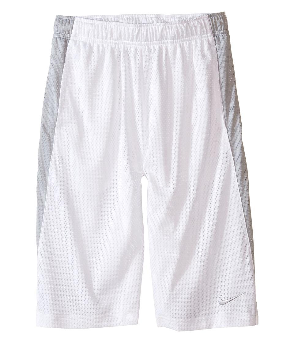 Nike Kids - YA Monster Mesh Shorts (Little Kids/Big Kids) (White/Wolf Grey/Wolf Grey) Boy's Shorts