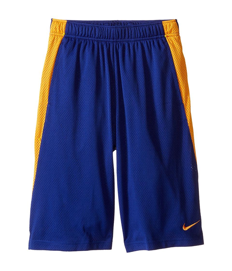 Nike Kids - YA Monster Mesh Shorts (Little Kids/Big Kids) (Deep Royal Blue/Vivid Orange) Boy's Shorts