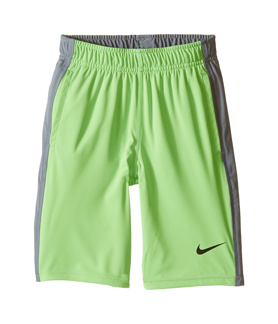 Nike Kids - Fly Short (Little Kids/Big Kids) (Action Green/Cool Grey/Black) Boy's Shorts