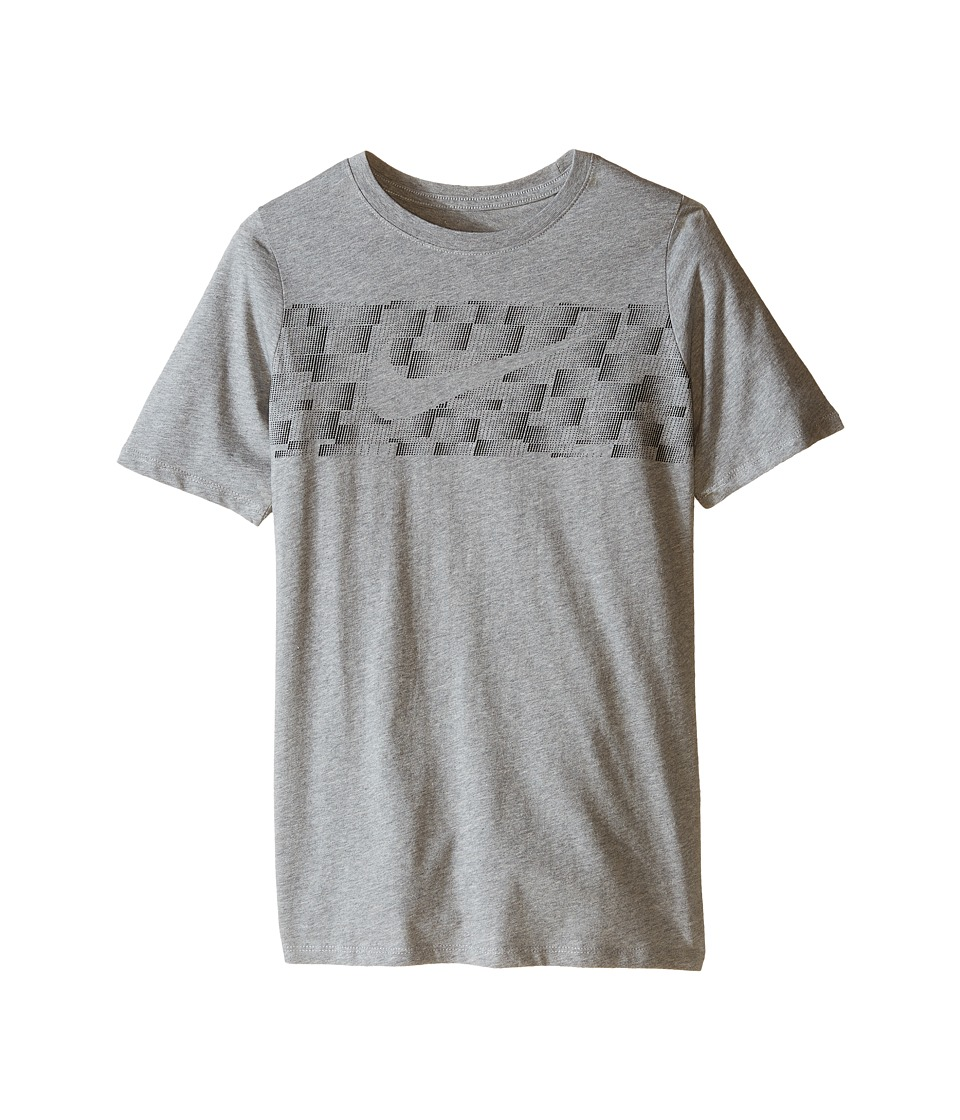 Nike Kids - NSW Swoosh Cat Tee (Little Kids/Big Kids) (Dark Grey Heather) Boy's T Shirt