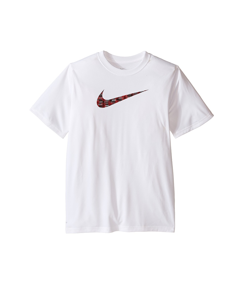 Nike Kids - Legend Short Sleeve Top Fill Tee (Little Kids/Big Kids) (White) Boy's T Shirt