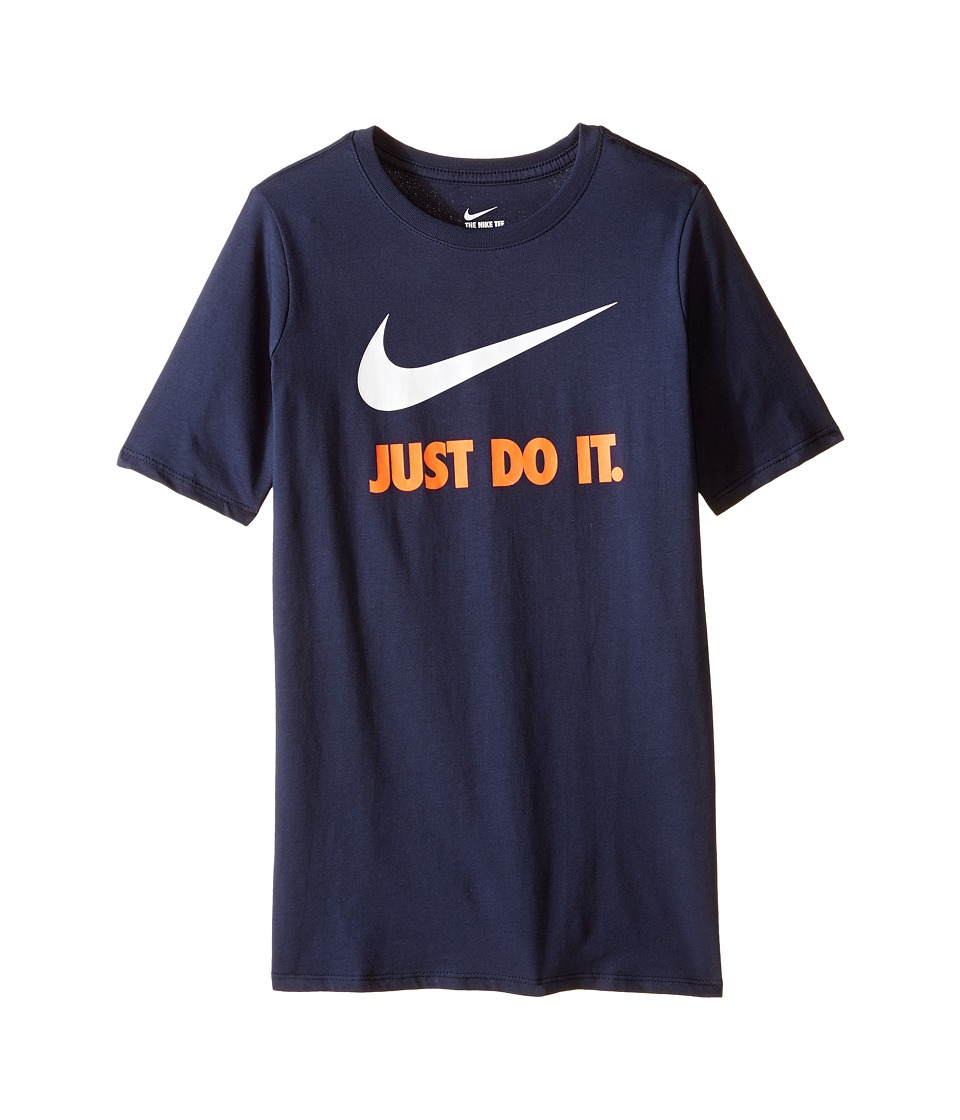 Nike Kids - JDI Swoosh Tee (Little Kids/Big Kids) (Obsidian/University Blue) Boy's T Shirt