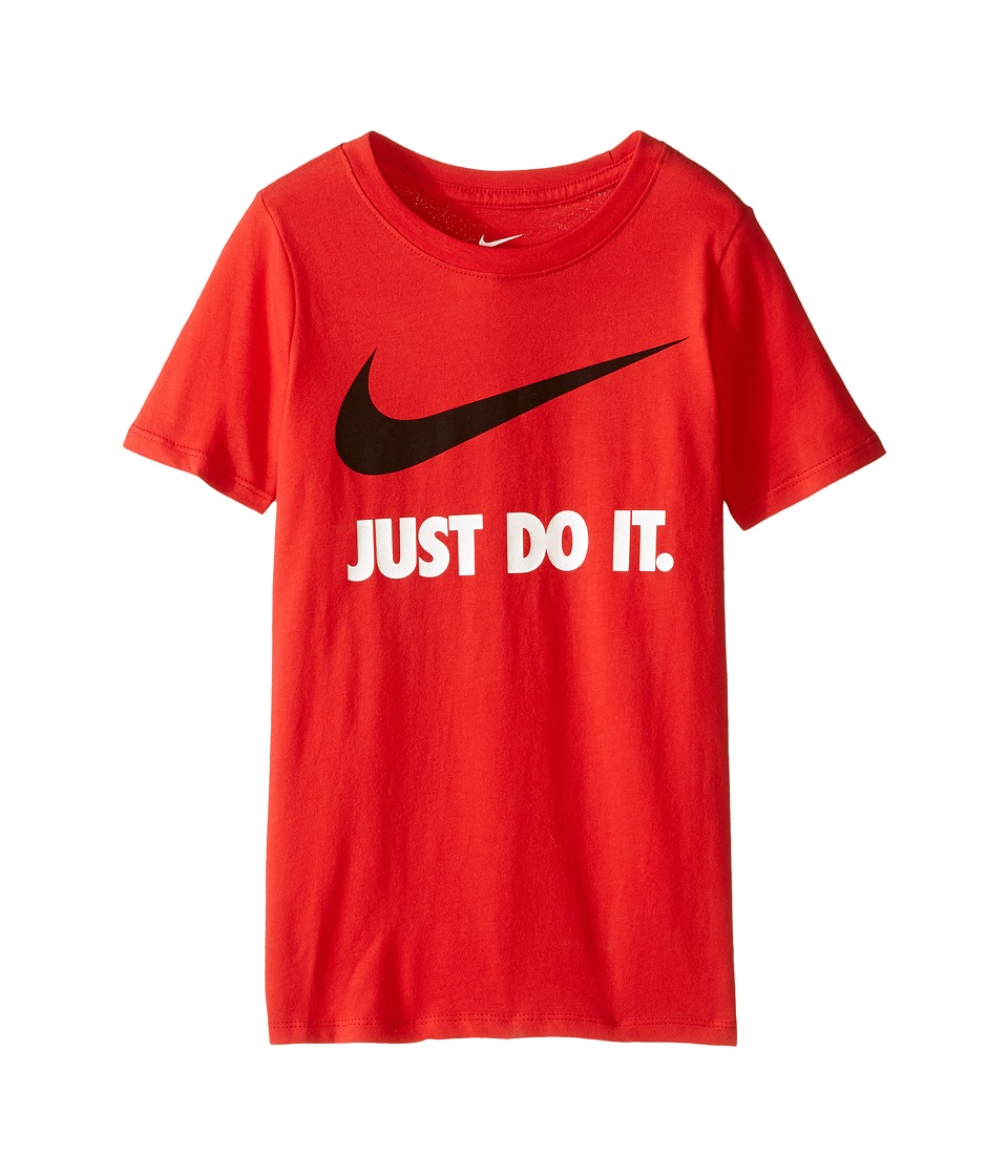 Nike Kids - JDI Swoosh Tee (Little Kids/Big Kids) (University Red/Black) Boy's T Shirt