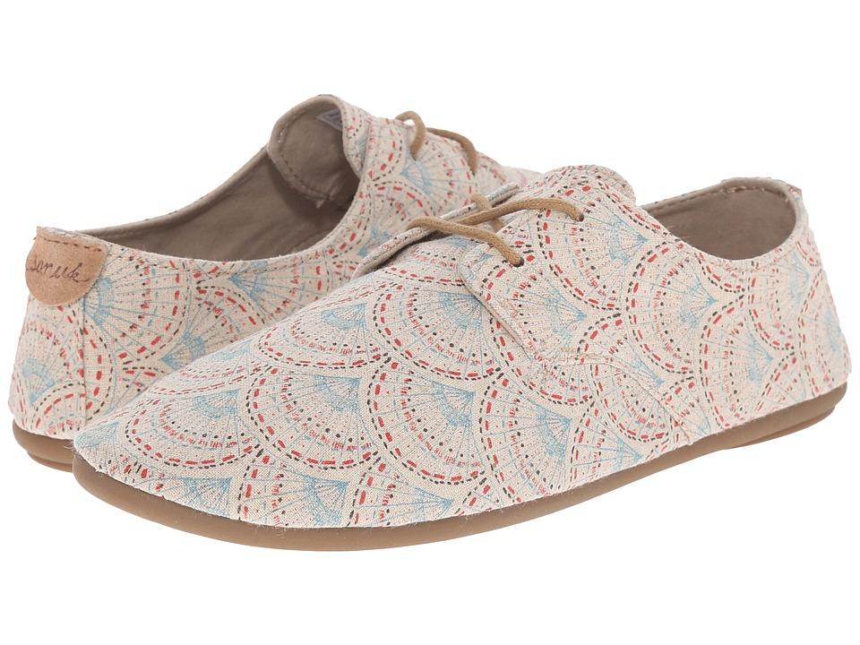 Sanuk - Bianca Prints (Ivory Sunrise) Women's Slip on Shoes