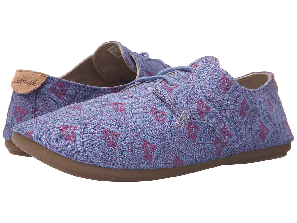 Sanuk - Bianca Prints (Iris Sunrise) Women's Slip on Shoes