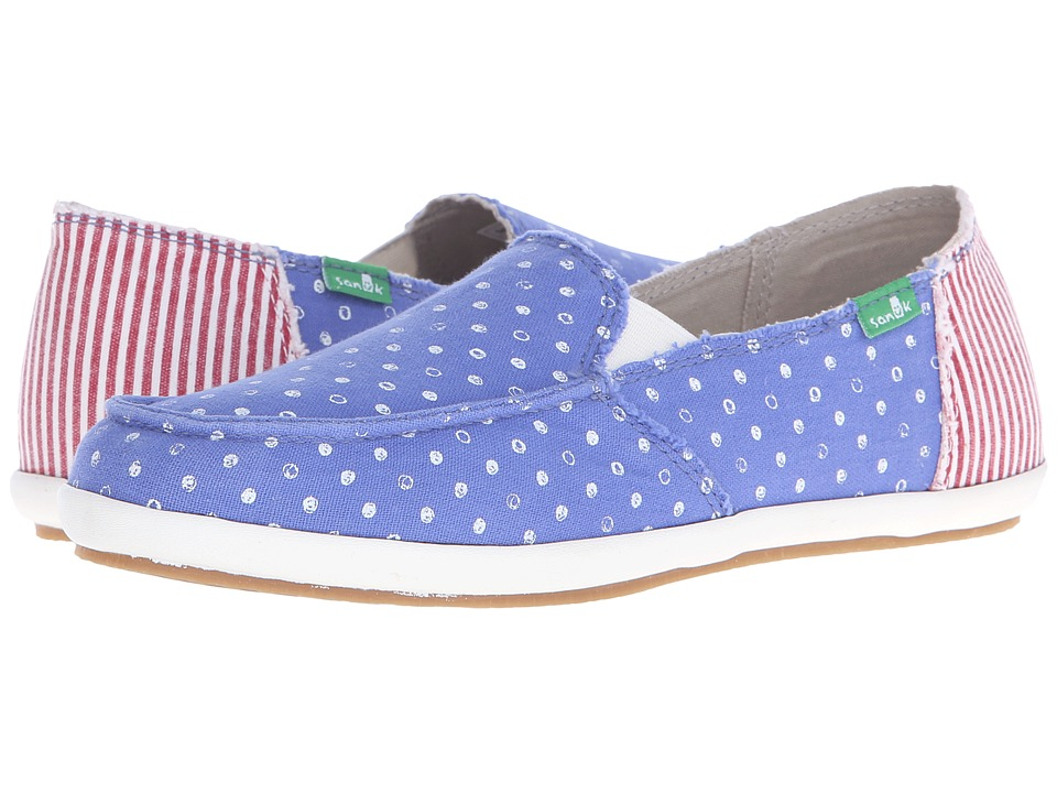Sanuk - Overboard Patriot (America Dots/Stripes) Women's Slip on Shoes