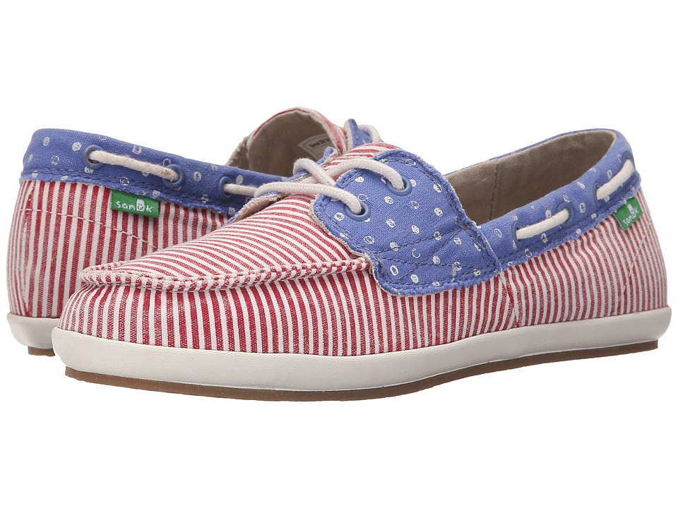 Sanuk Sailaway 2 Patriot (America Dots/Stripes) Women