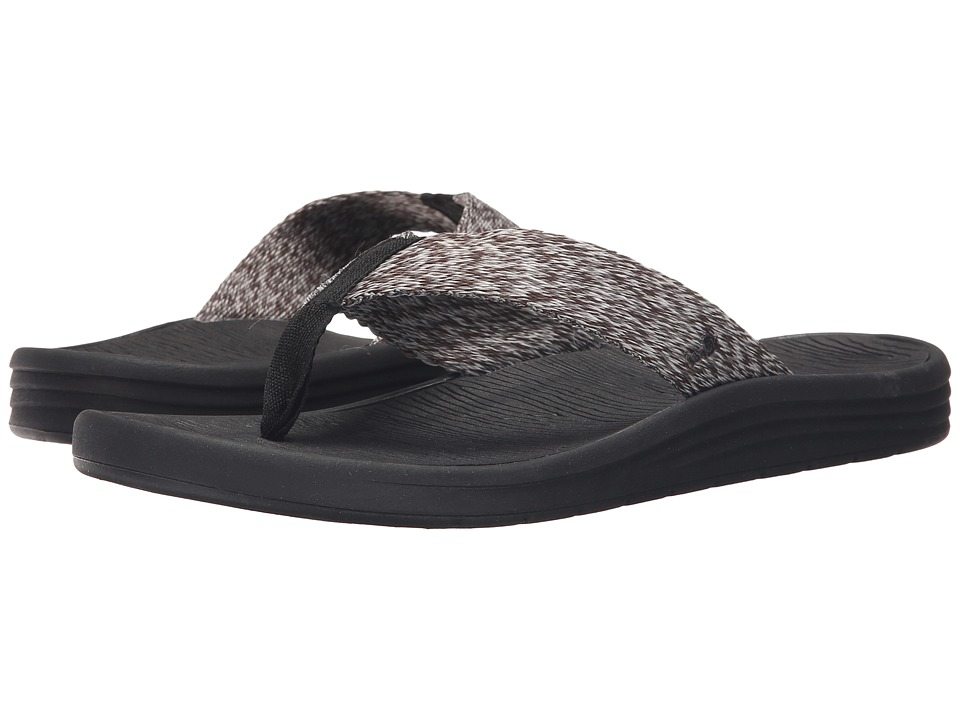 Sanuk - Compass Webbing (Black/Charcoal/Grey) Men's Sandals