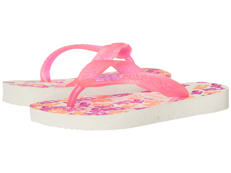 Havaianas Kids - Fantasy (Toddler/Little Kid/Big Kid) (White/Pink) Girls Shoes