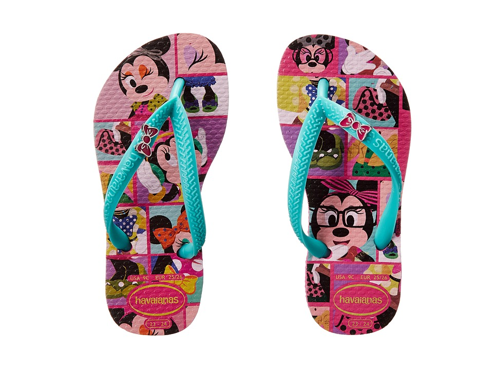 Havaianas Kids - Disney Cool (Toddler/Little Kid/Big Kid) (Wonder/Lake Green) Girls Shoes