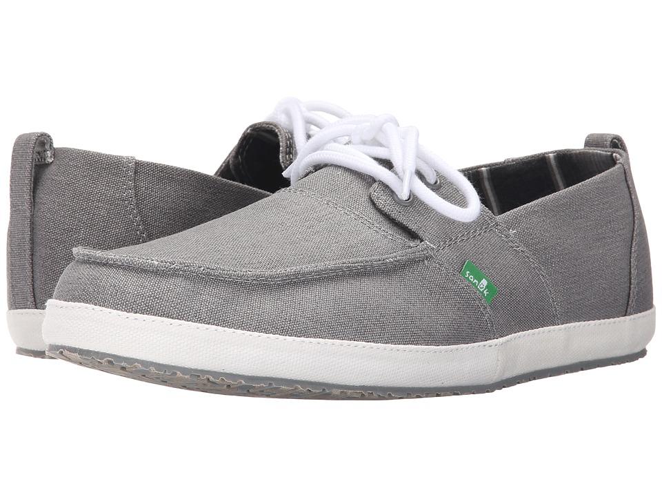 Sanuk - Admiral (Grey) Men's Slip on Shoes