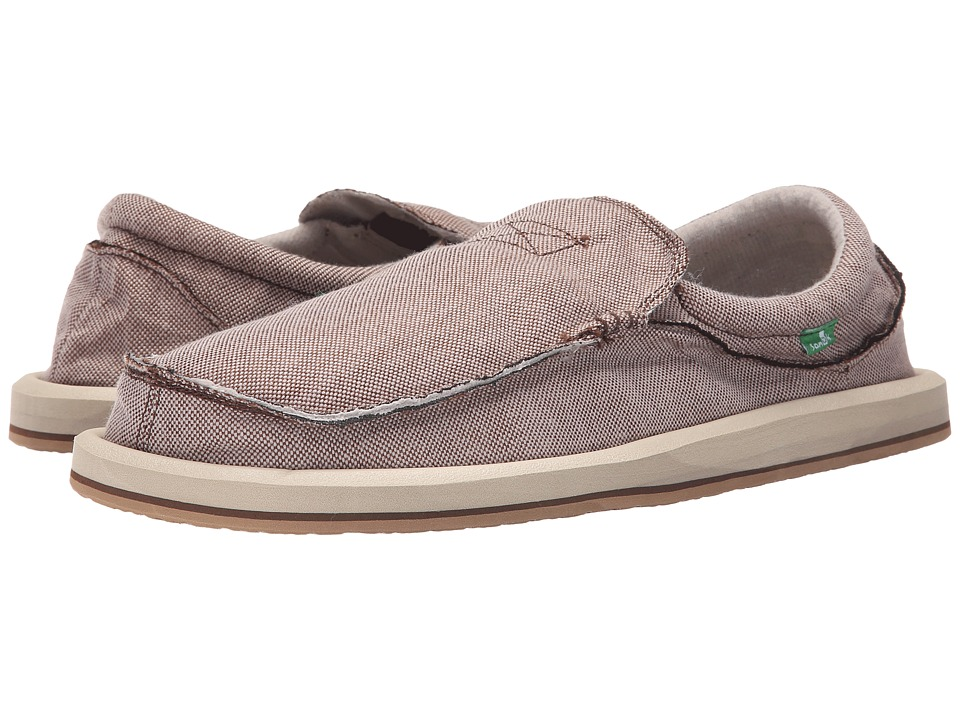 Sanuk - Chiba TX (Brown) Men's Slip on Shoes