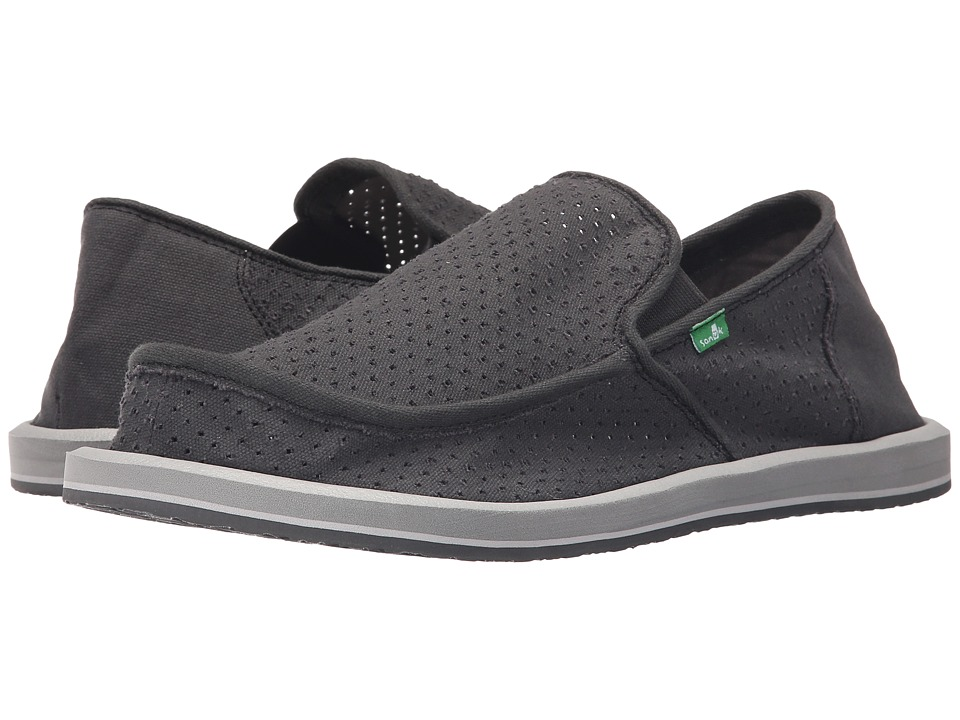 Sanuk - Vagabond Perf (Charcoal) Men's Slip on Shoes