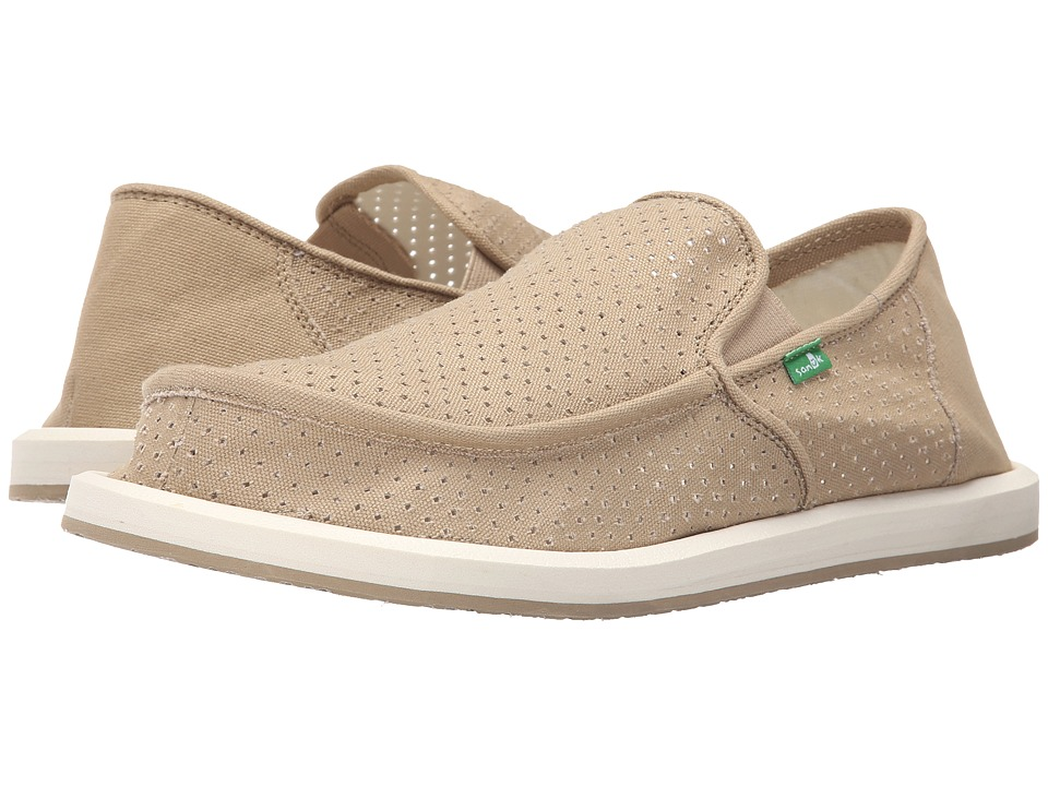 Sanuk - Vagabond Perf (Khaki) Men's Slip on Shoes