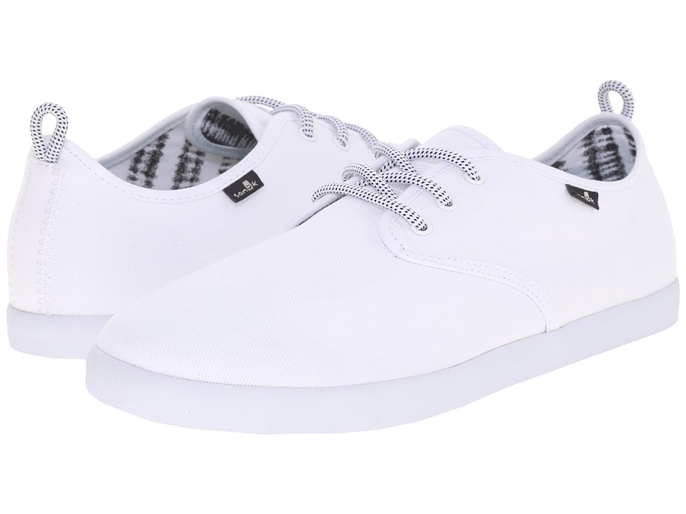 Sanuk - Guide (White) Men's Lace up casual Shoes