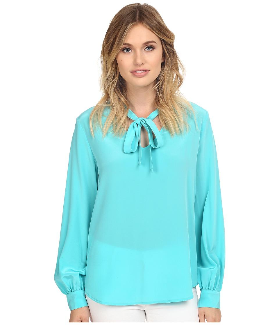 Trina Turk - Dawson Top (Azure) Women's Clothing