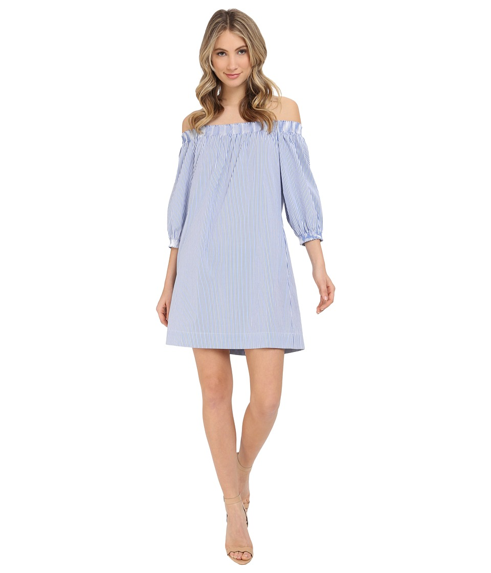 Trina Turk - Neville Dress (White/Blue) Women's Dress
