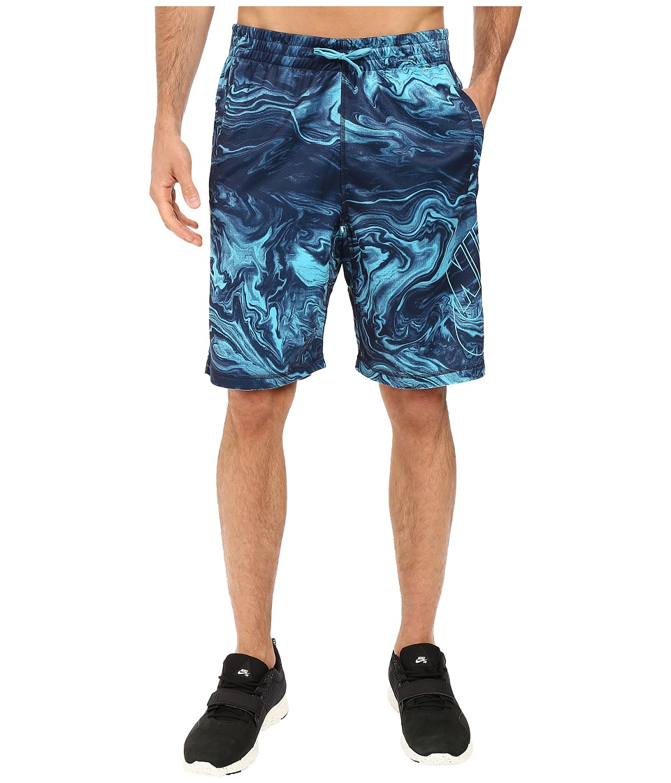 Nike SB - SB Dri-FIT Swirl Sunday Shorts (Omega Blue/Omega Blue) Men's Shorts