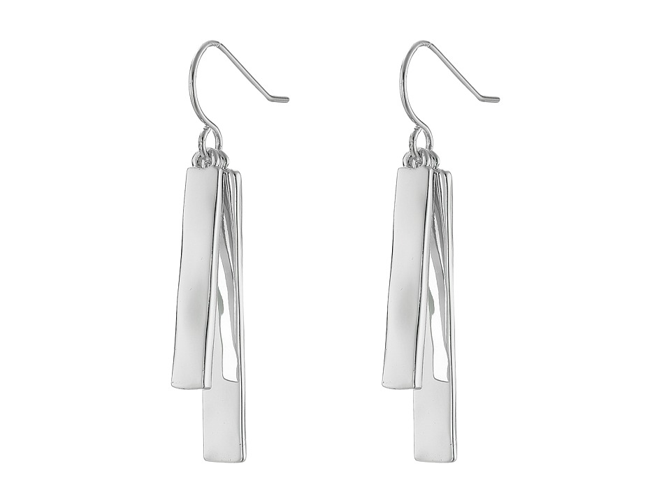 LAUREN Ralph Lauren - Downtown Chic Double Bar Drop Earrings (Silver) Earring