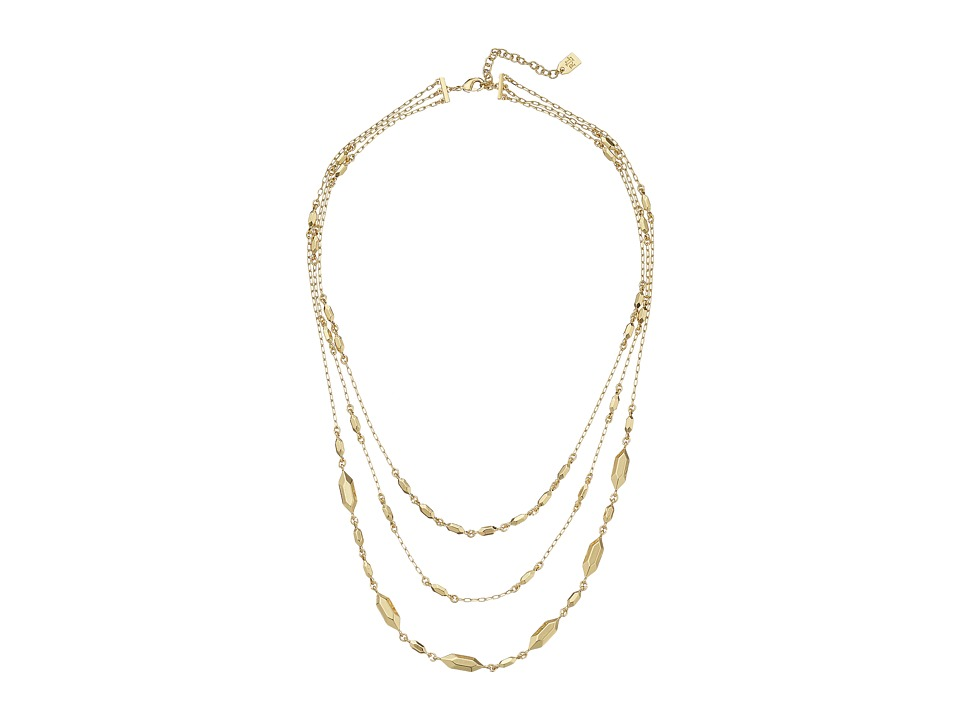 LAUREN Ralph Lauren - Golden Opulence 18-22 3 Row Metal Nugget Necklace (Gold) Necklace