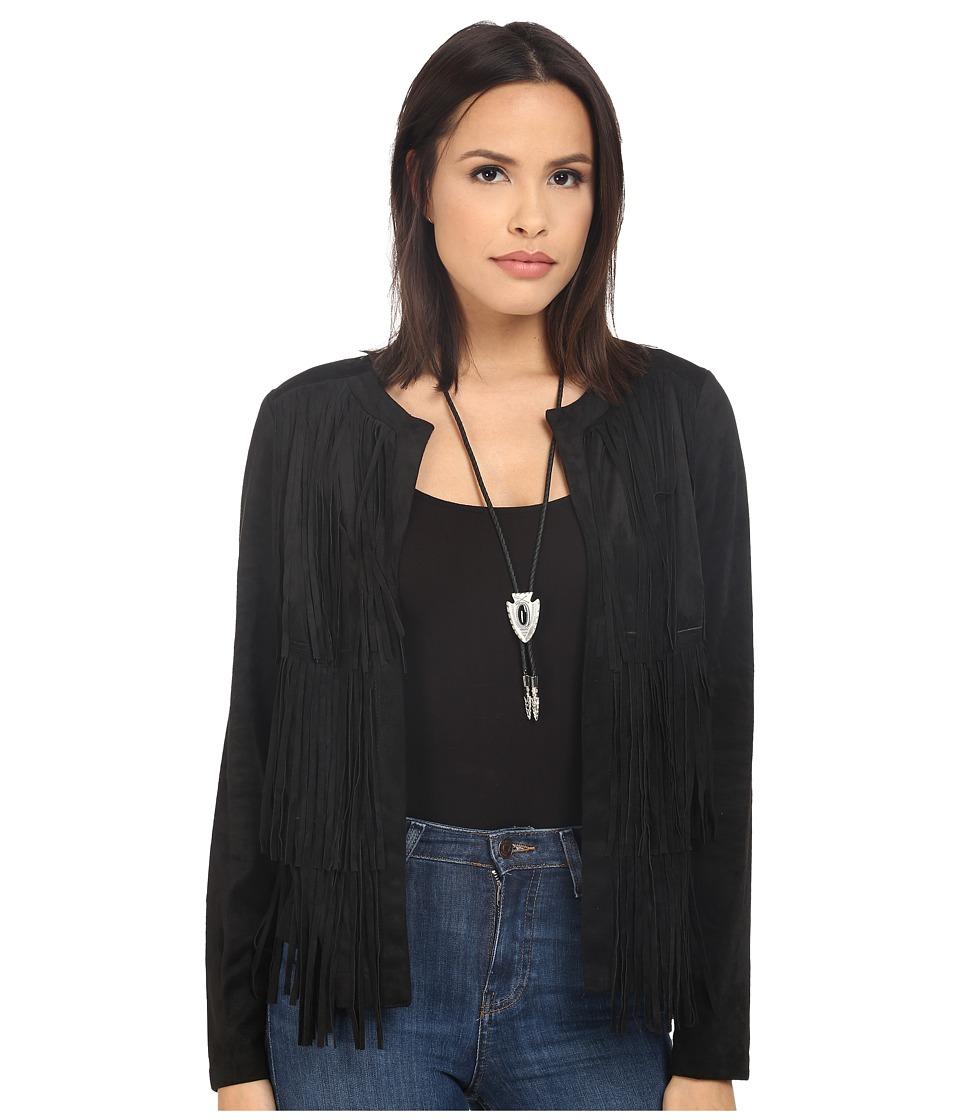 kensie - Soft Faux Suede Jacket KS2K2176 (Black) Women's Jacket