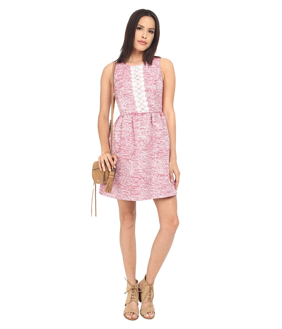 kensie Slubby Jacquard Dress KS2K7848 (Dragon Fruit Combo) Women
