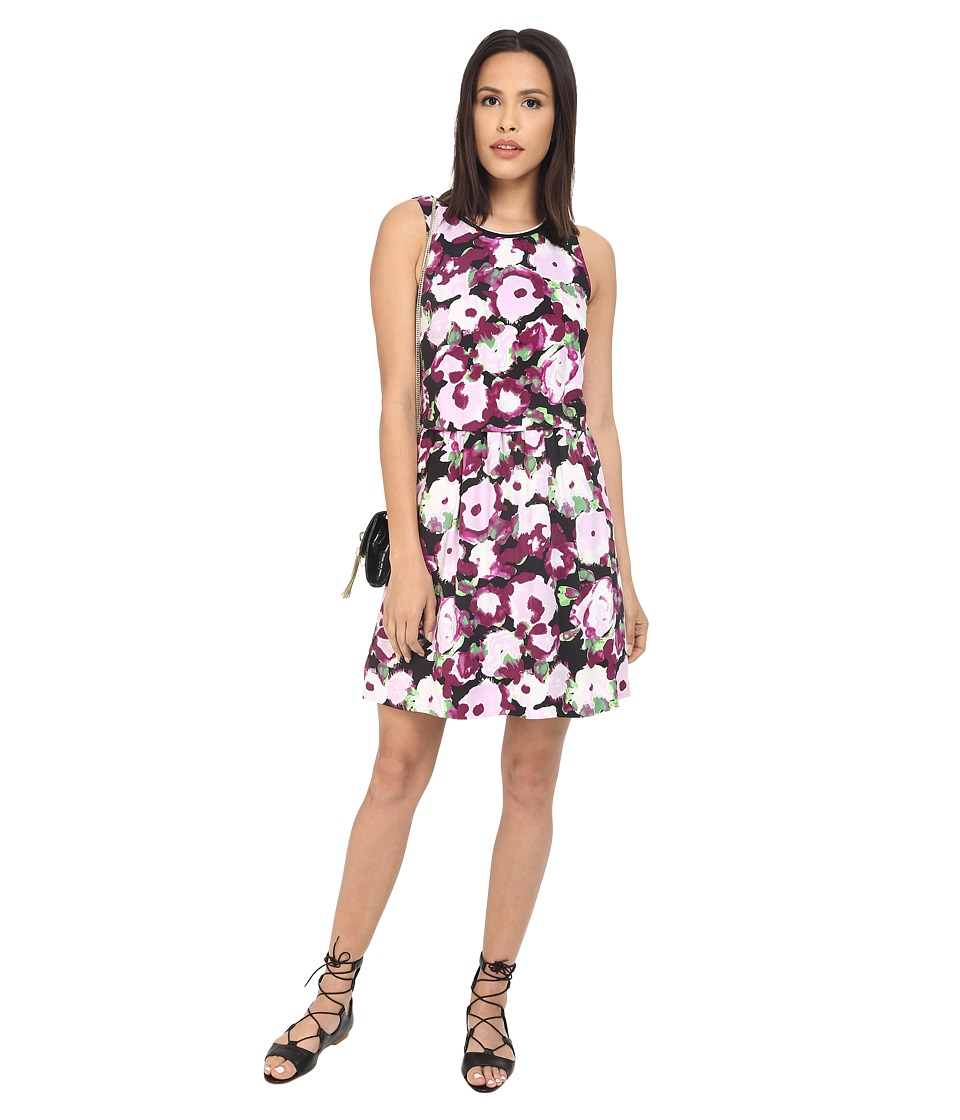 kensie - Watercolors Blooms Dress KS2K7854 (Pale Lilac Combo) Women's Dress
