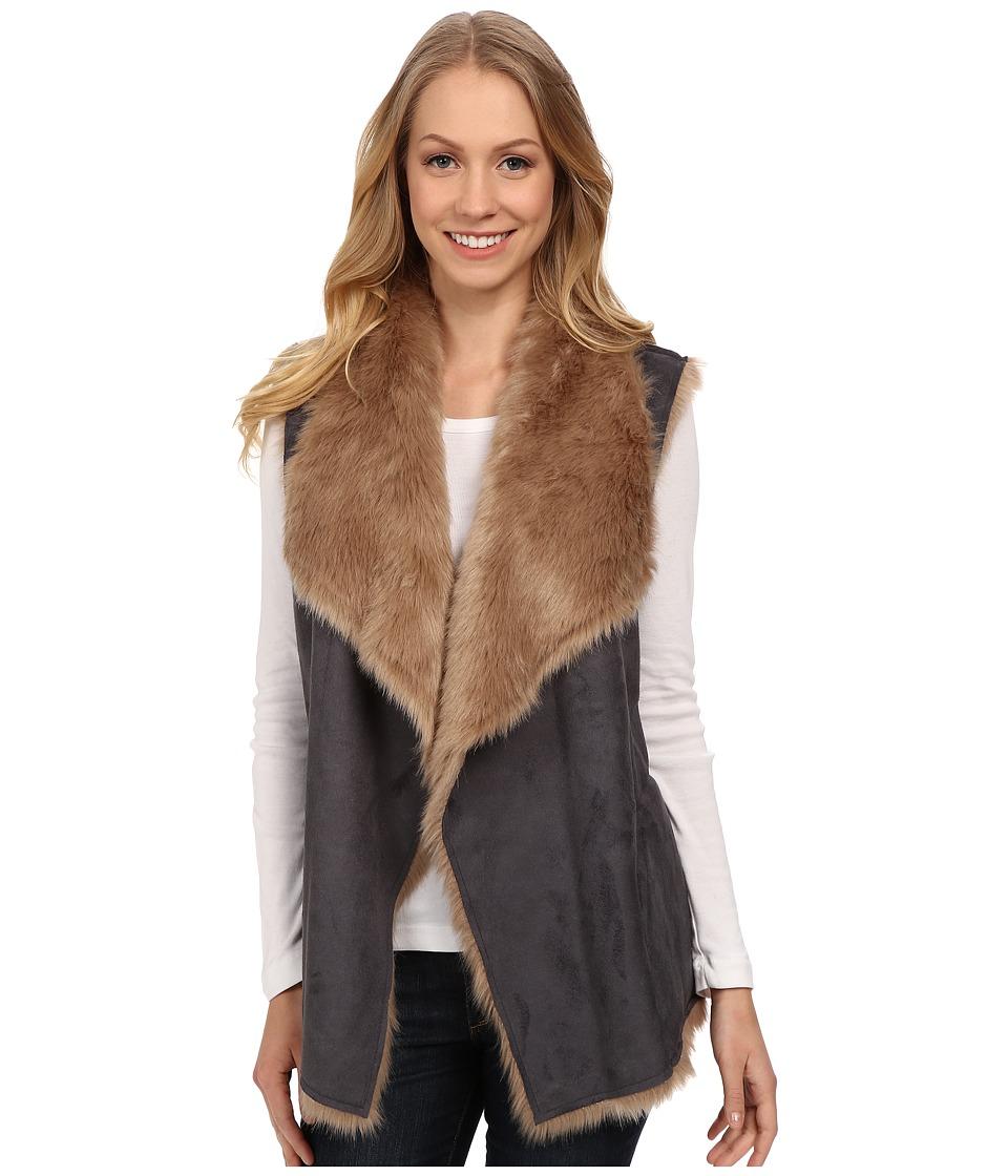 NYDJ - Bonded Fur Vest (Beige) Women's Vest