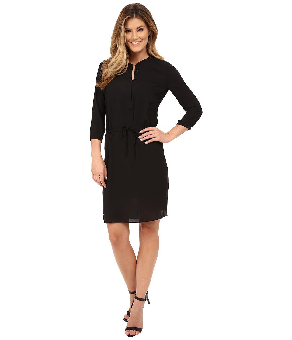 NYDJ - Lauren PLeat Back Dress (Black) Women's Dress