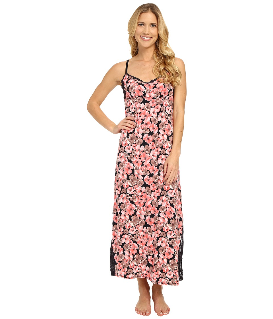 Midnight by Carole Hochman - Modal Long Gown with Lace (Poppies) Women's Pajama