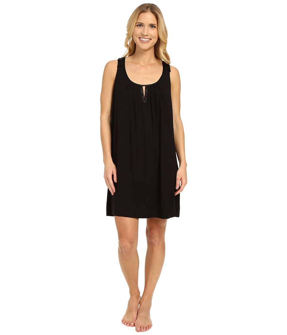 Midnight by Carole Hochman - Modal Chemise with Satin (Black) Women's Pajama