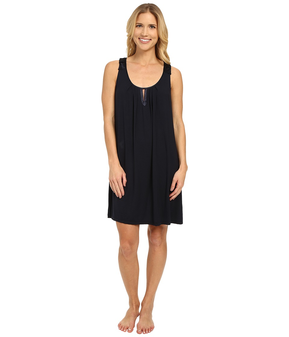 Midnight by Carole Hochman - Modal Chemise with Satin (Midnight) Women's Pajama